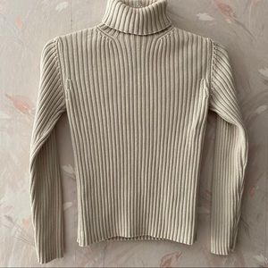 GAP Ribbed Long sleeve Turtle neck sweater